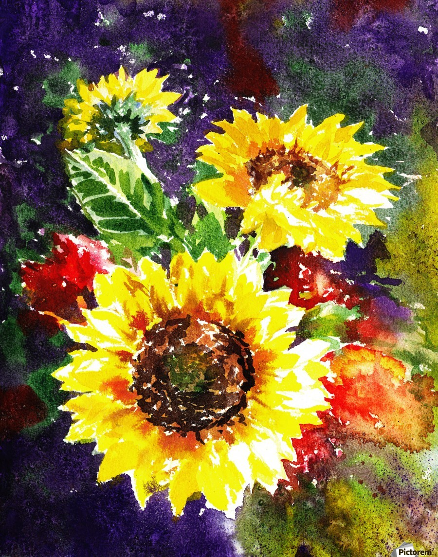 Impressionism And Sunflowers  Print