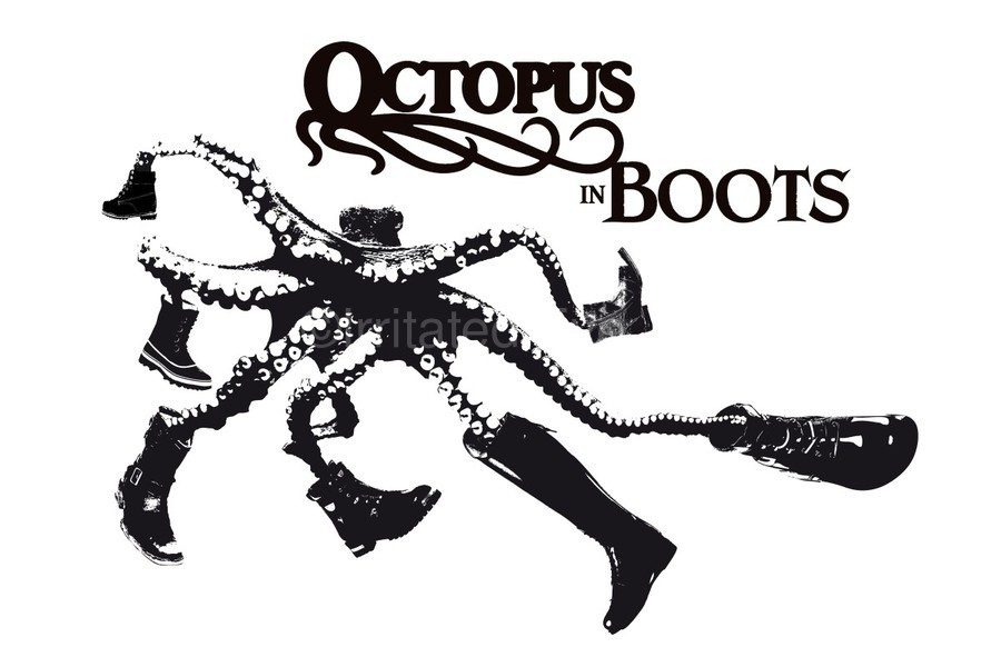 Octopus in Boots  Print