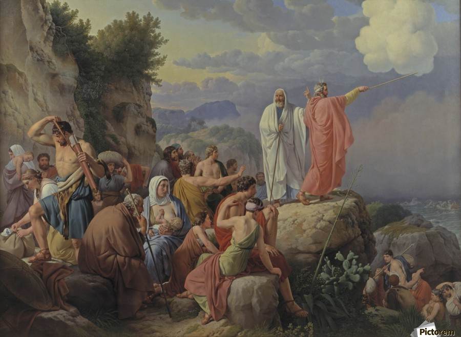 Israelites resting after the crossing of the Red Sea, 1815  Print