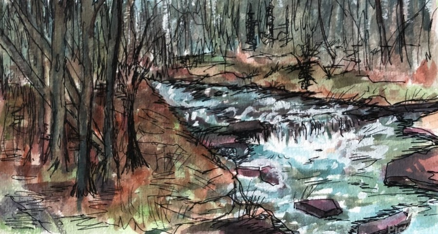 Gatlinburg Creek  Print
