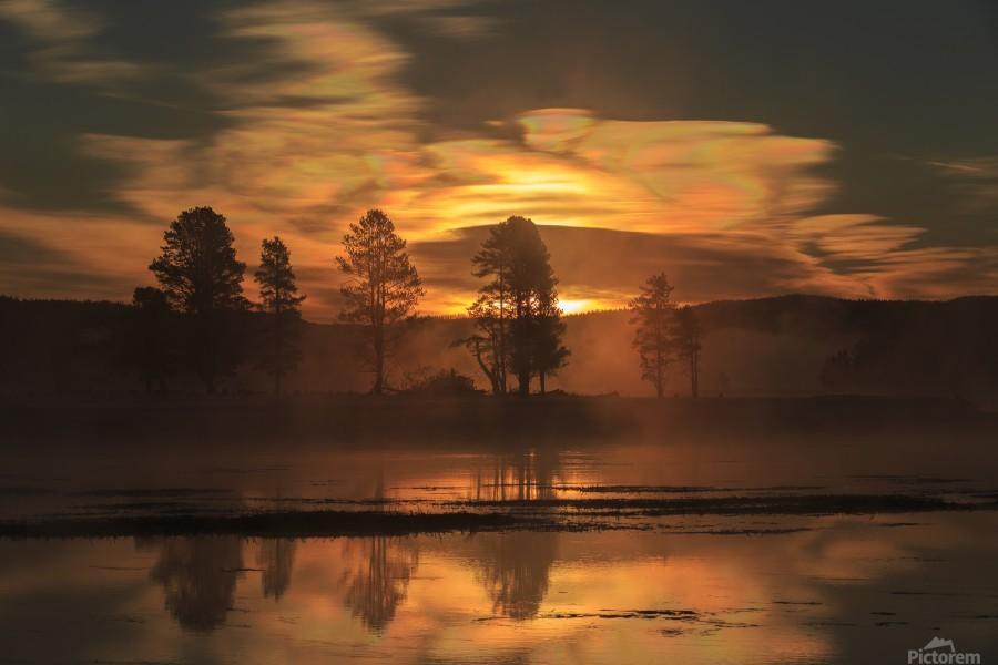 Northern Lights in Yellowstone  Print
