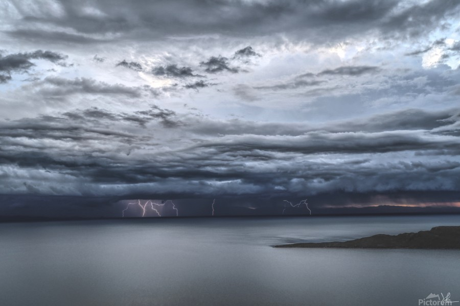Lightning Over Lake Titicaca  Print