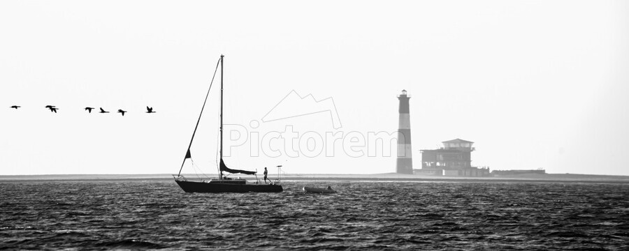 Passing by the Lighthouse  Print