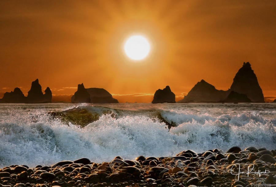 Sunset at Rialto Beach  Print