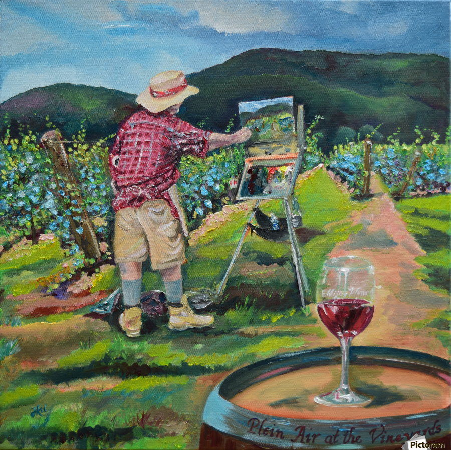 We Paint with Wine- Plein Air in the Vineyard  Print