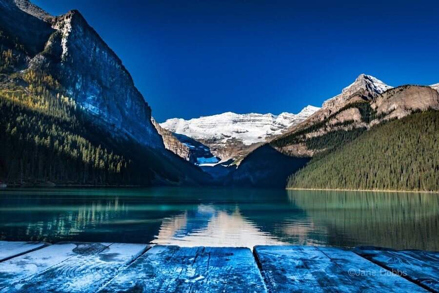 Lake Louise Dock  Print