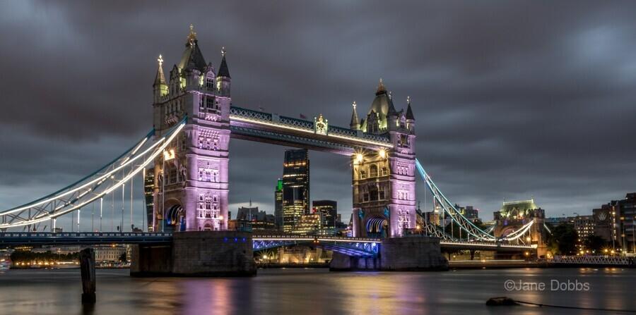 Tower Bridge at Night  Print