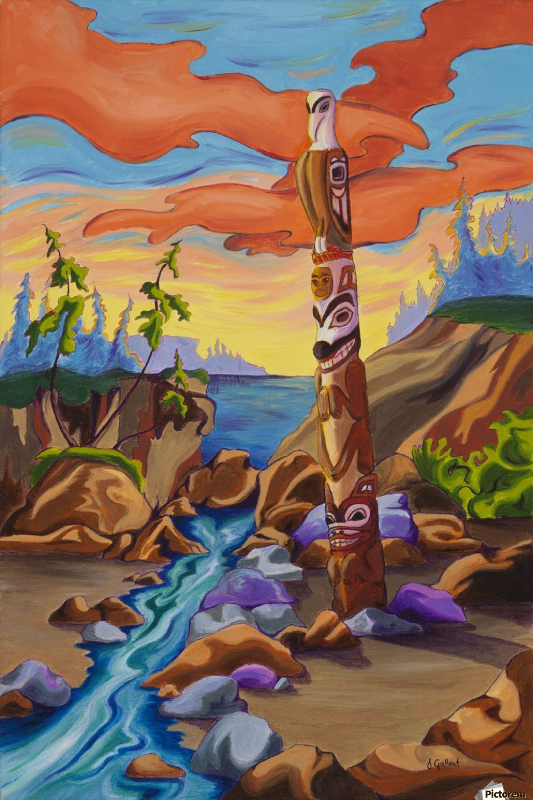 Haida Totem  Print