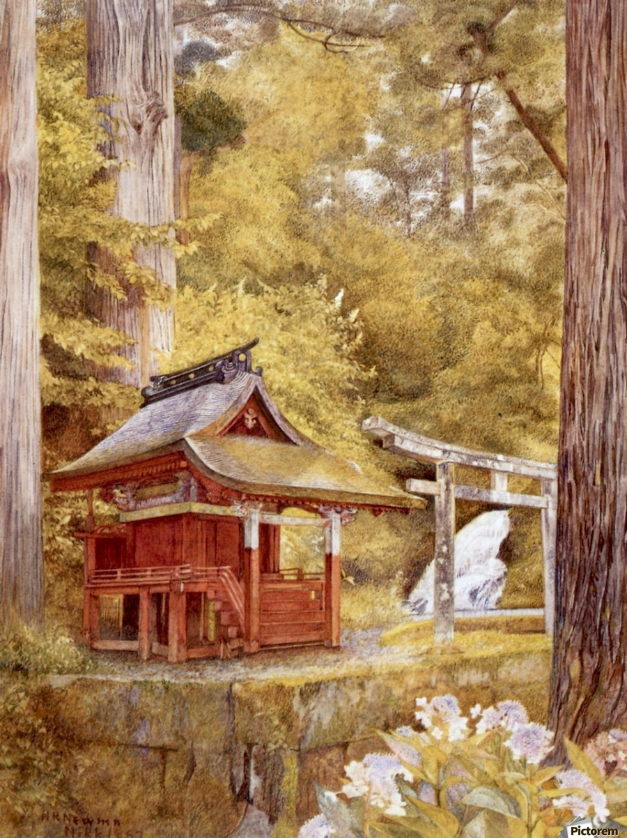 Japanese Pagoda In The Woods  Print