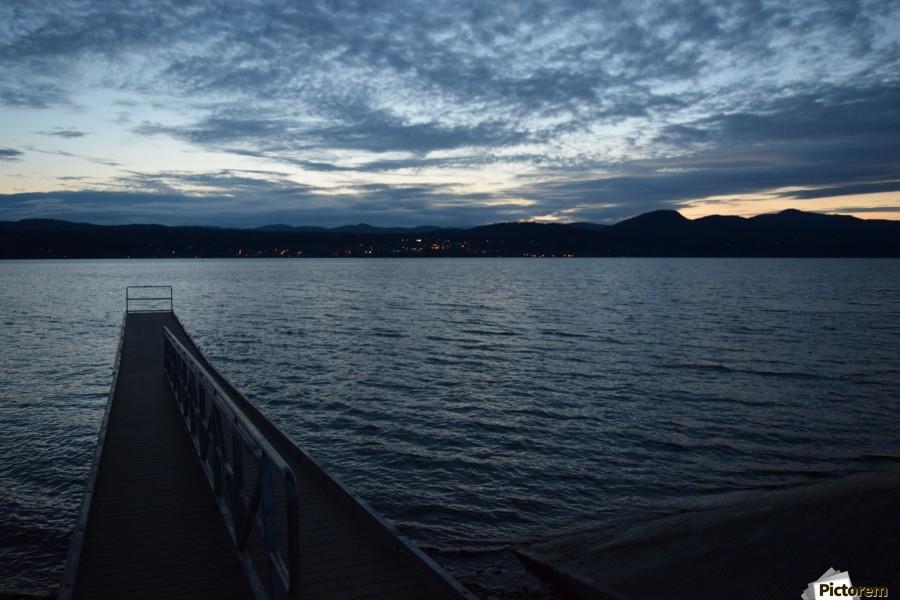 Dusky Dock on Champlain   Print