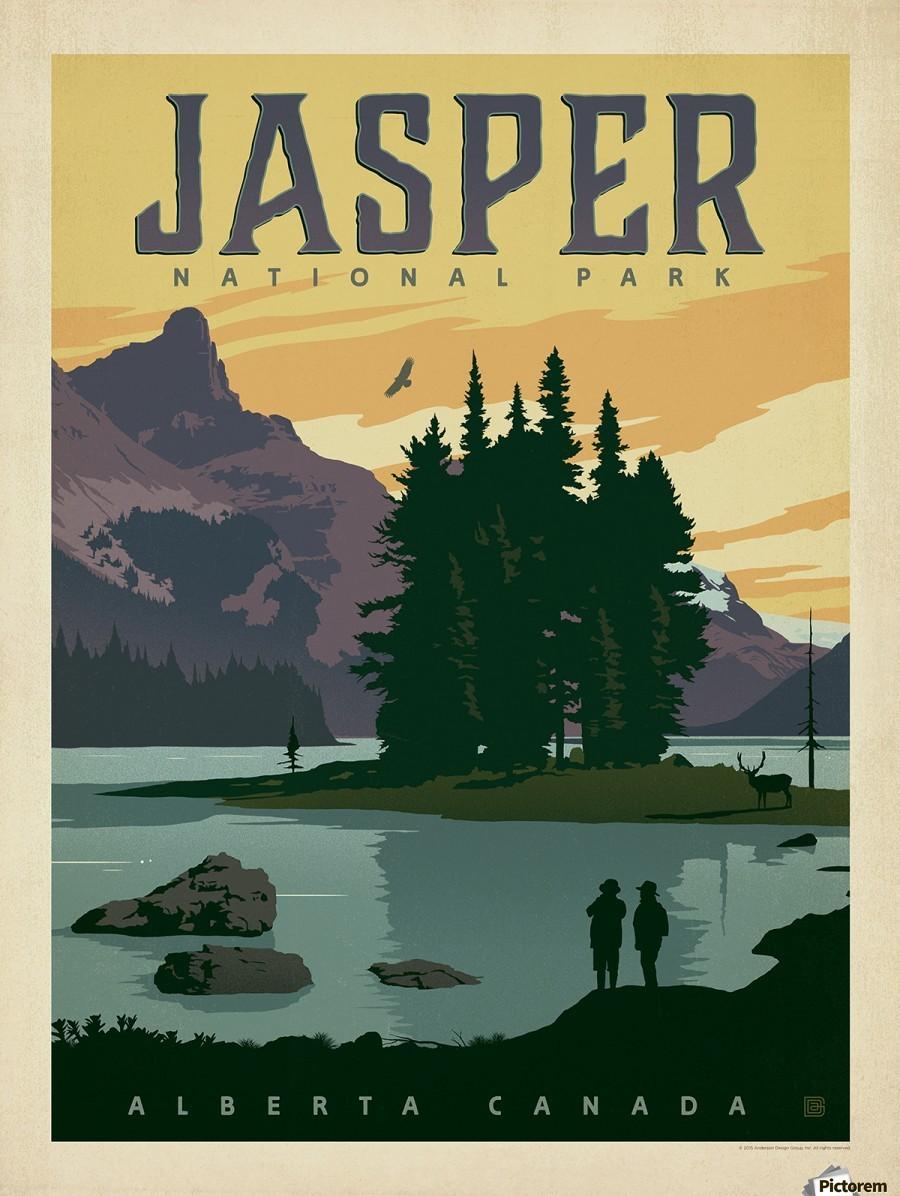 Jasper National Park Vintage Poster