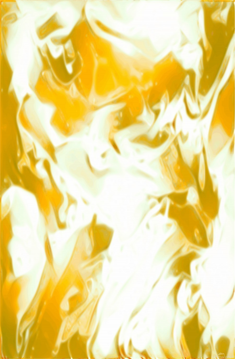 Abundant Aura - white gold swirls abstract wall art - Jaycrave Designs -  Canvas Artwork