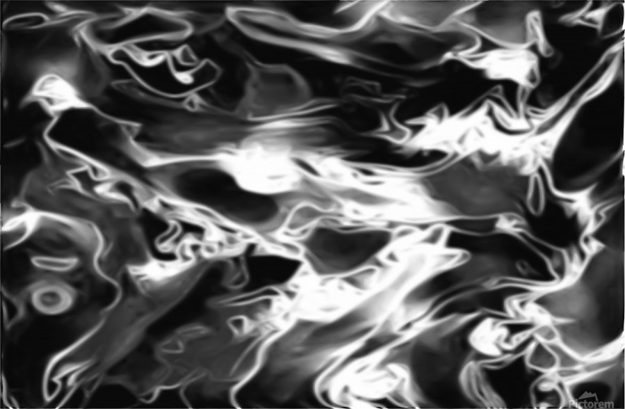 The Softening Black White Grey Abstract Swirl Wall Art Jaycrave Designs
