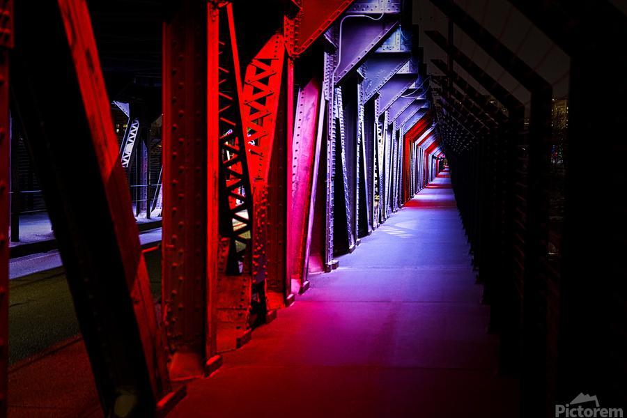 Tunnel of Red Rain  Print