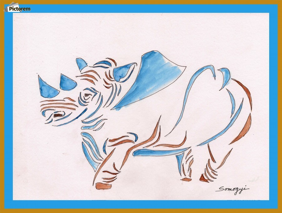 Do Rhinos Come in Blue  Print
