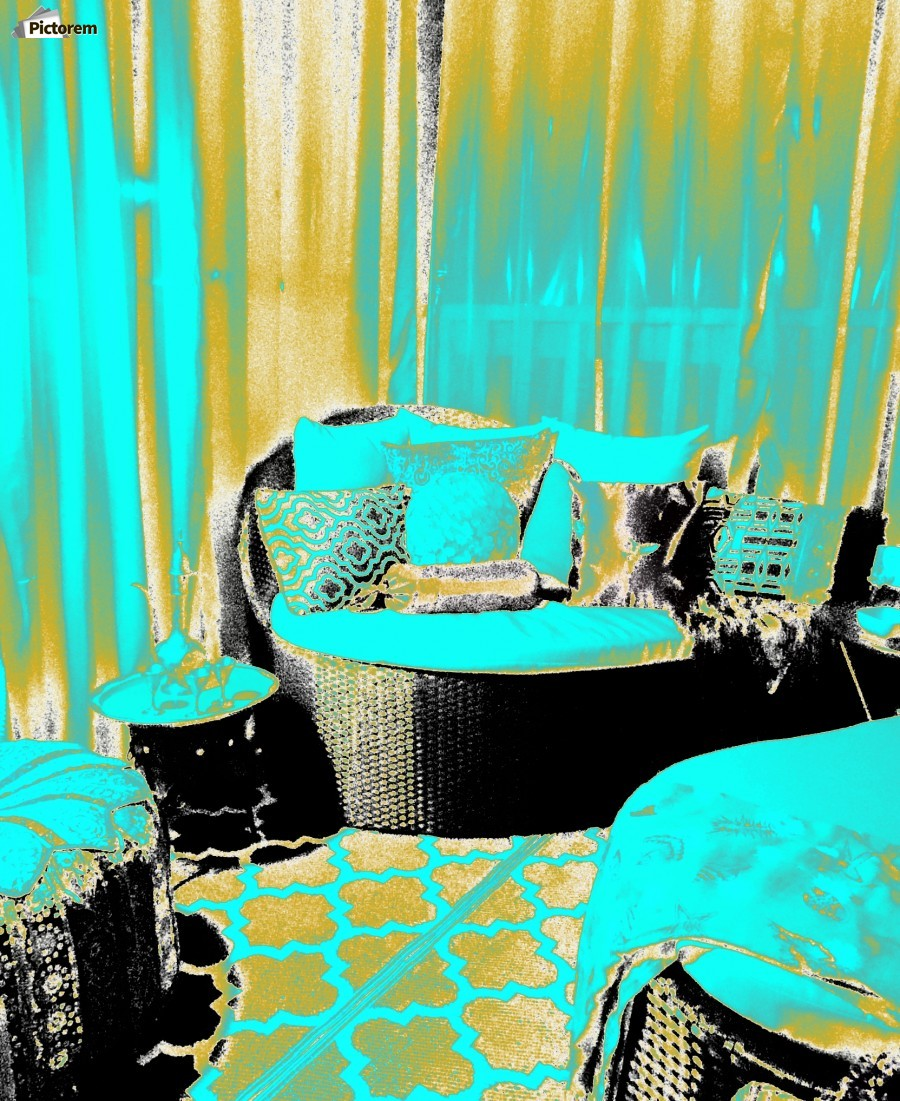 Moroccan Porch In Gold Turquoise