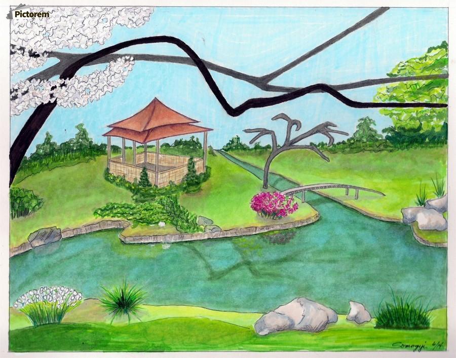 ... Nitobe Memorial Garden Acrylic Print. Canvas print