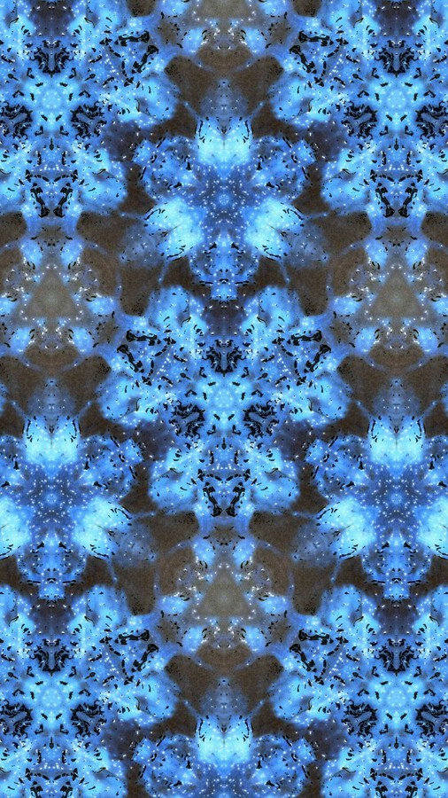 Kaleidoscope Burst of Blue   Print