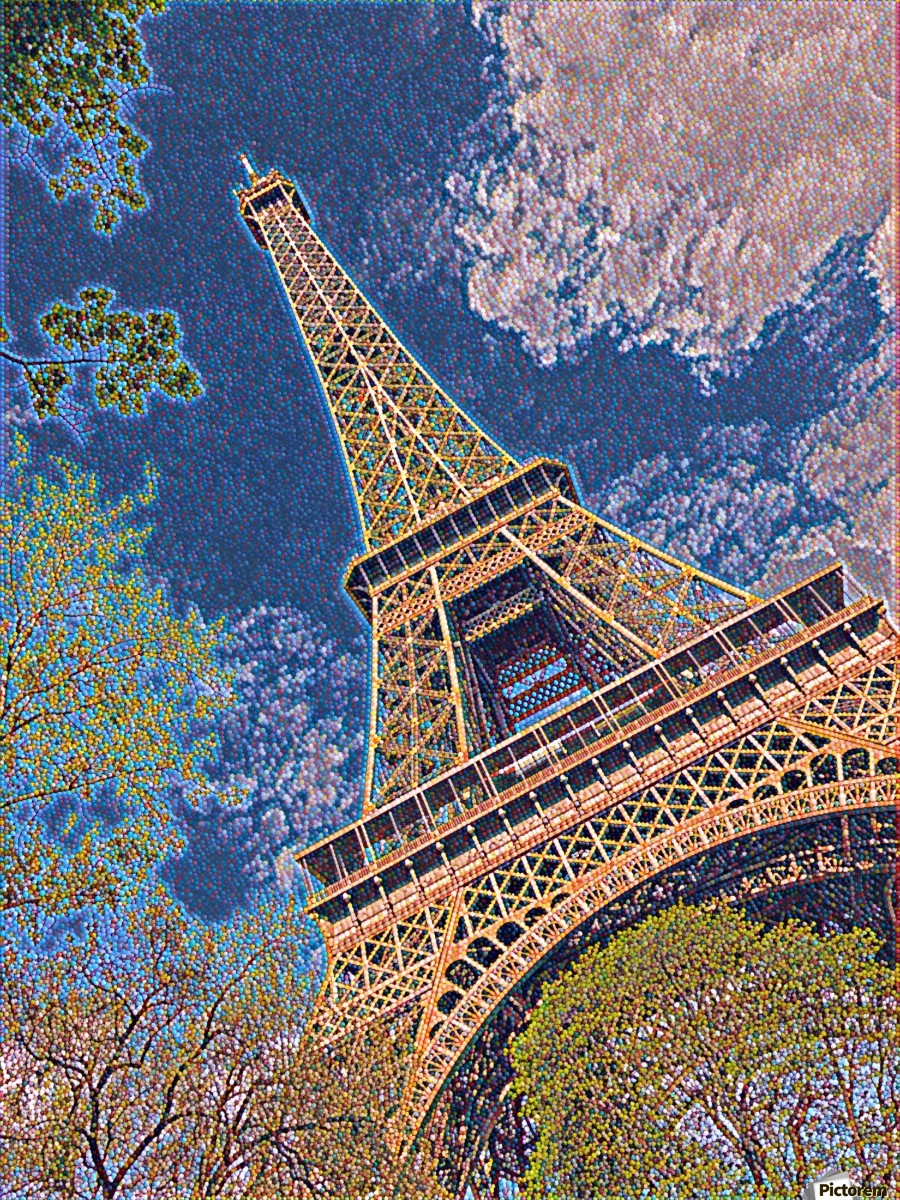 Eiffel Tower- Abstract  Print