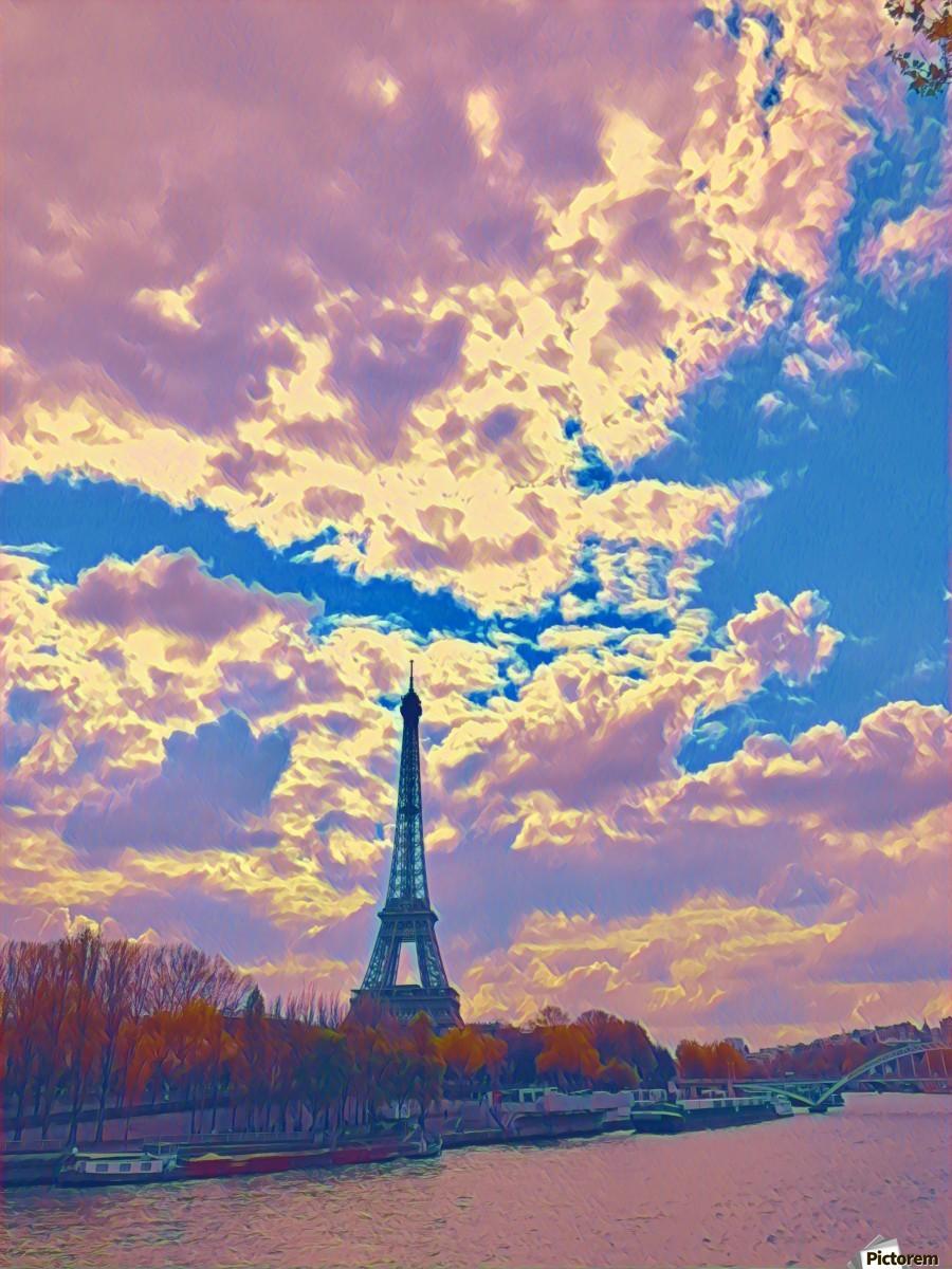 River & Eiffel   Print