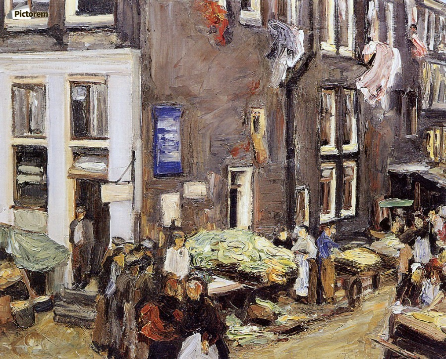 Jewish quarter in amsterdam max liebermann canvas