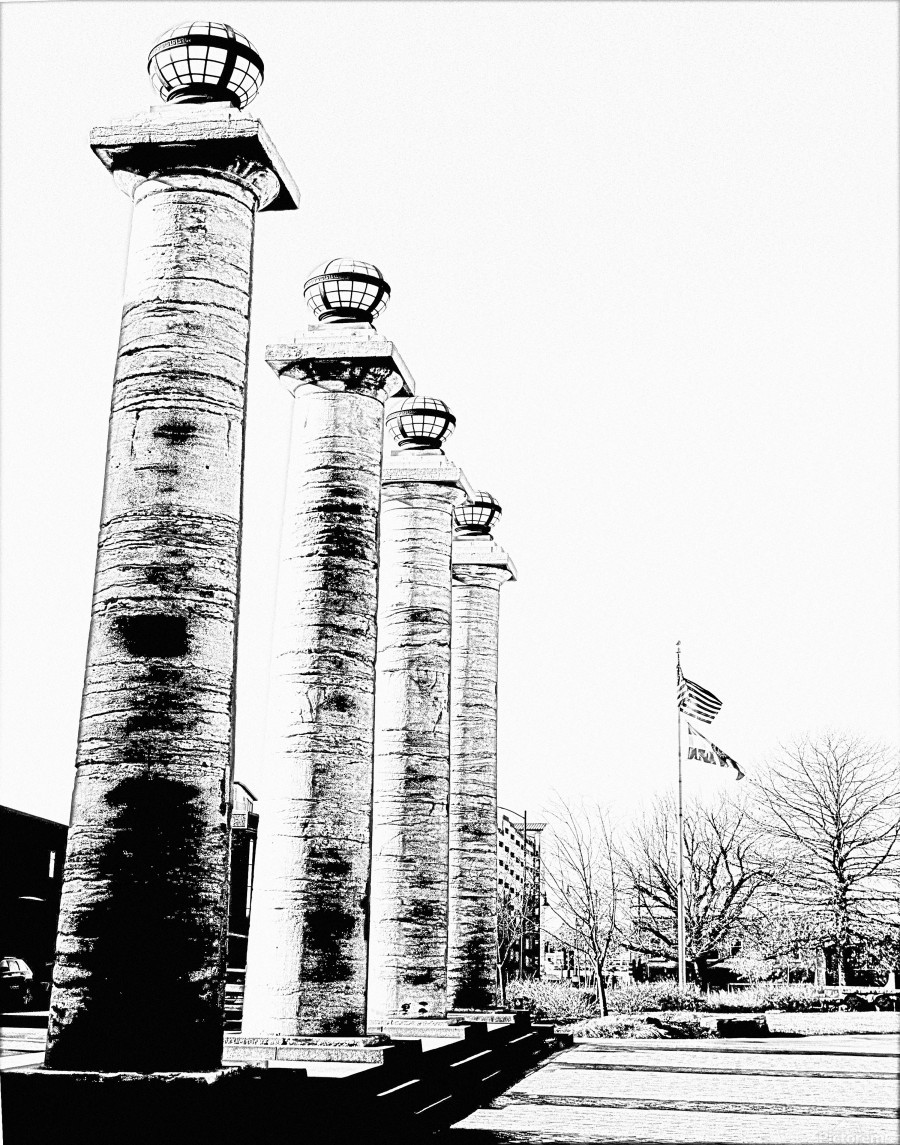 Columns At The Courthouse  Print