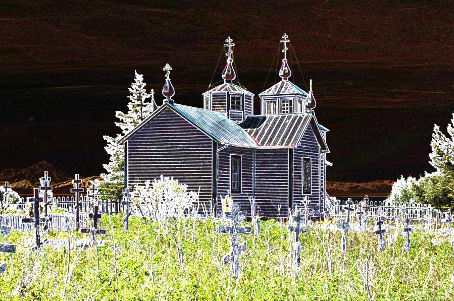 Church in Alaska  Print