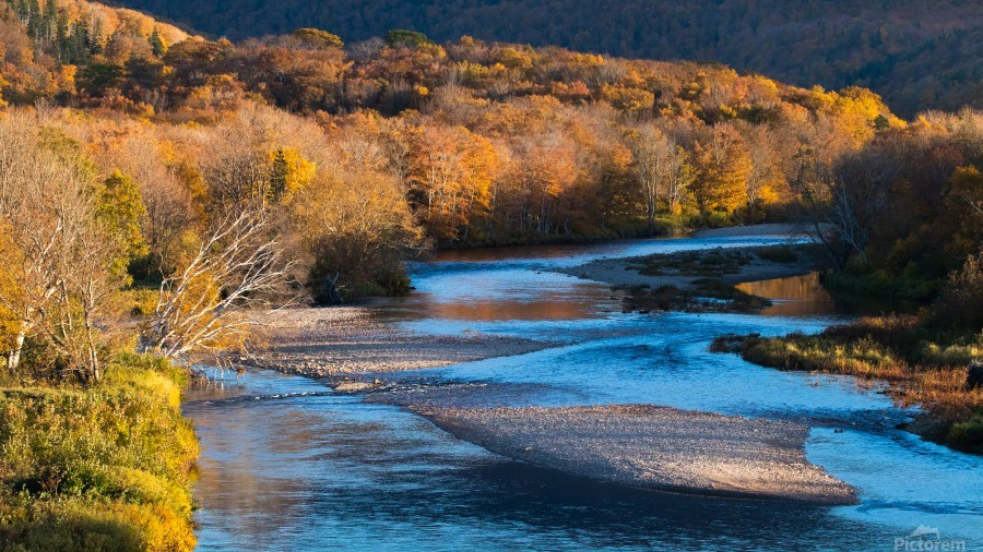 Cheticamp river Cape Breton highland national park  Print
