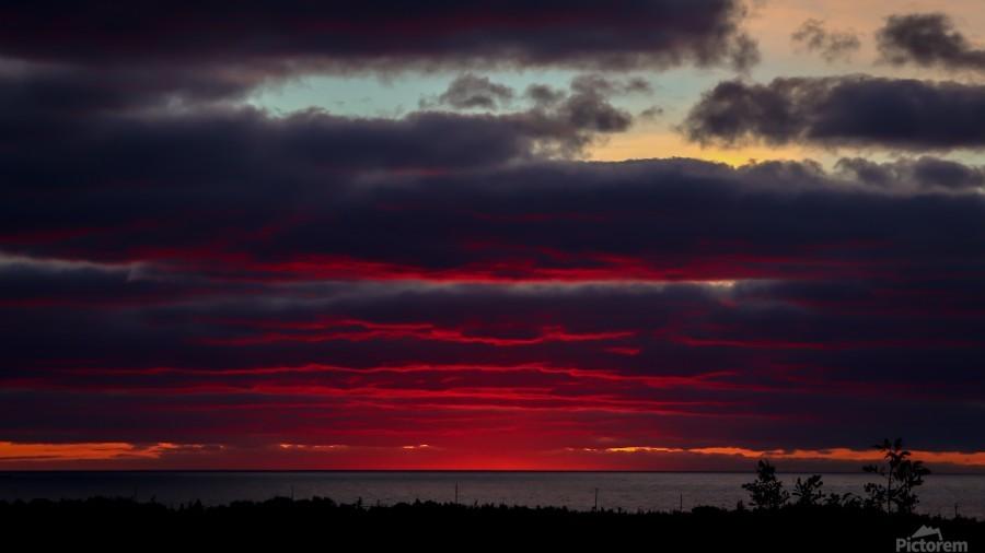 Blood red sunset  Print