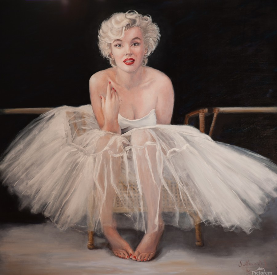Marilyn in white ballet dress 1  Print