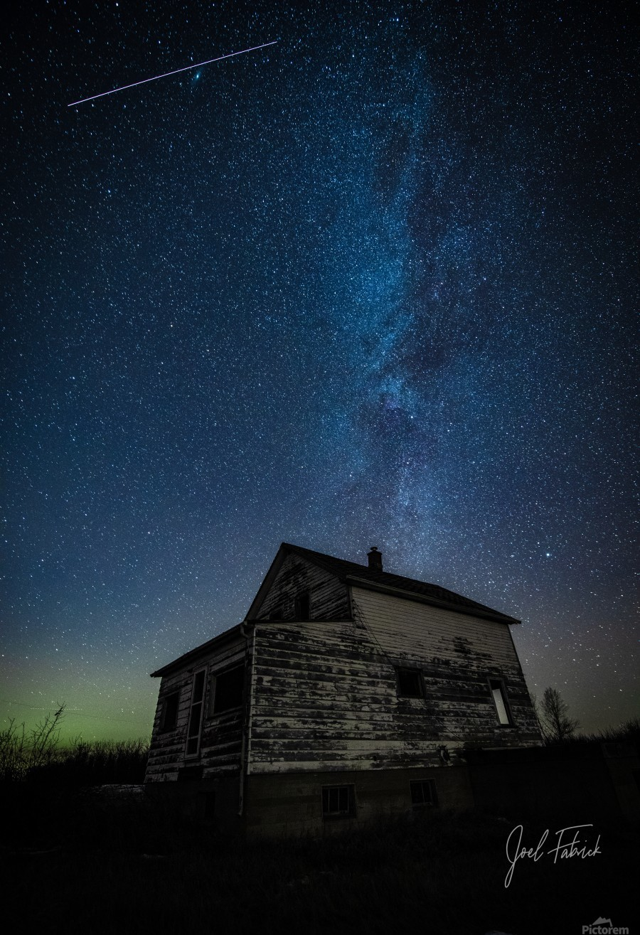 Abandoned House Milky Way   Hi Res   A3  Print