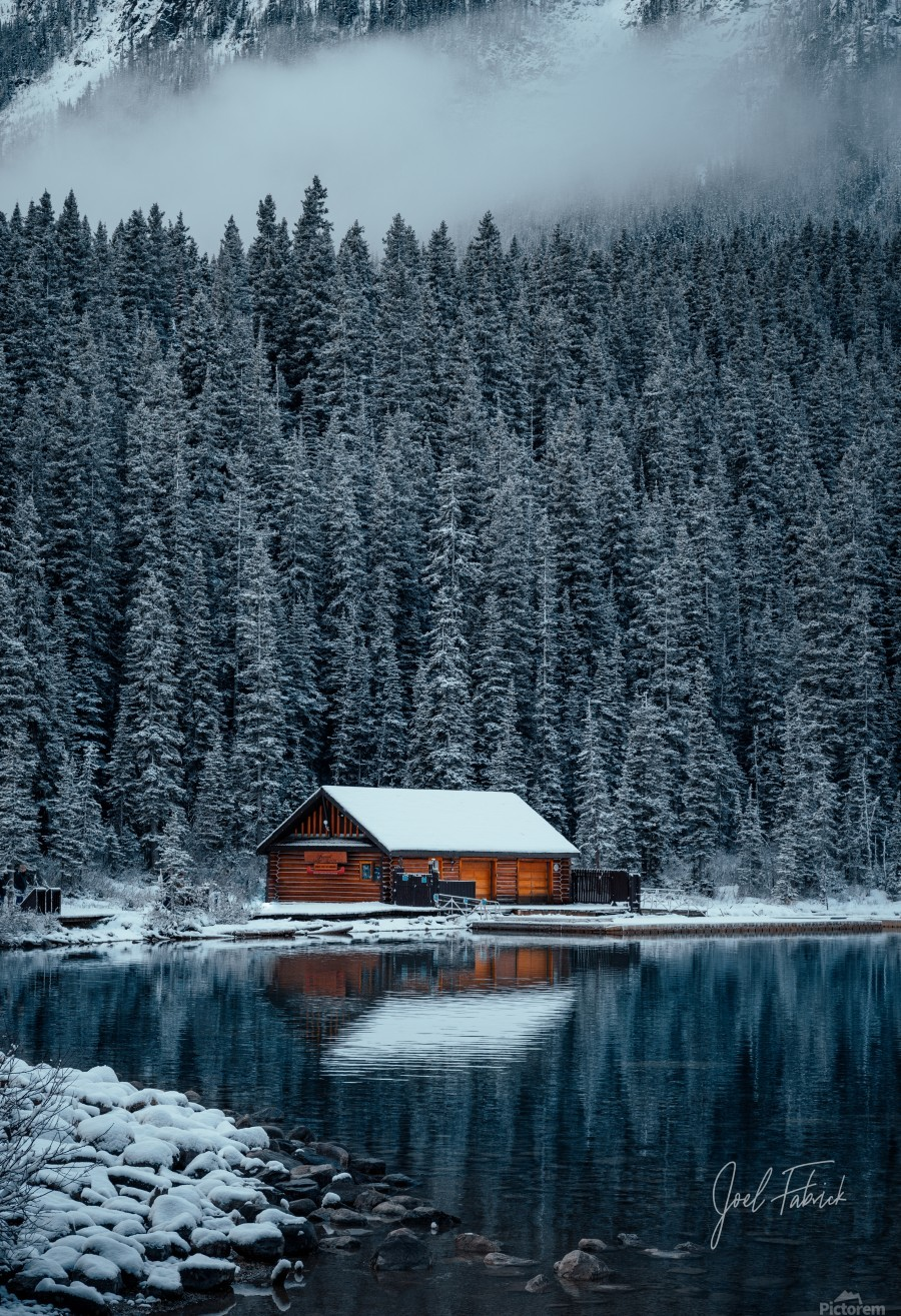 Lake Louise Cabin  Print