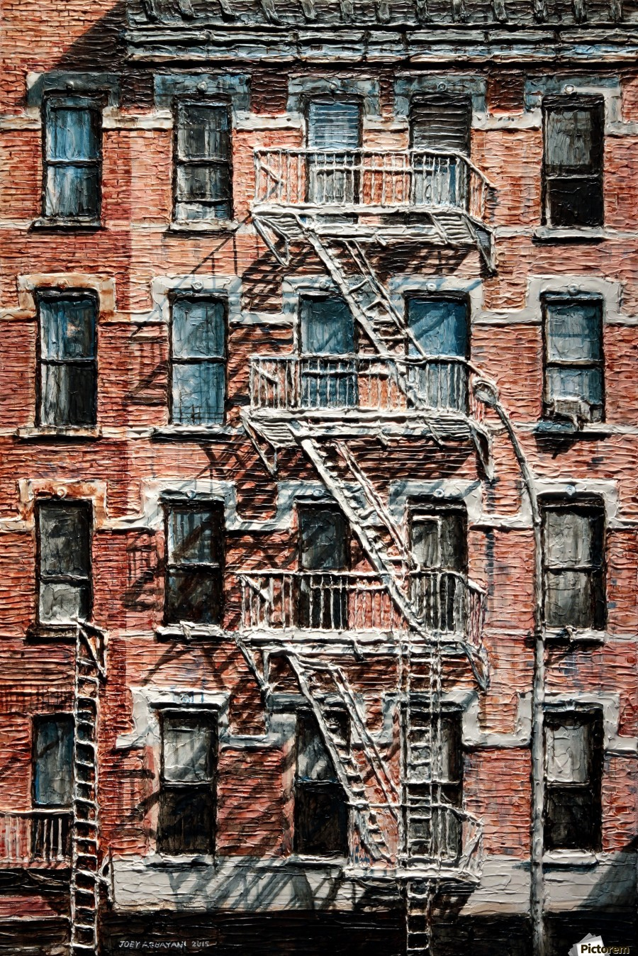 nyc apartment buildings. Canvas print N Y C Apartment On 9th Ave  Joey Agbayani
