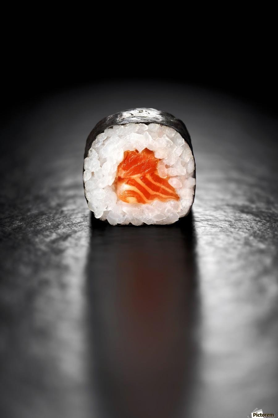 Maki Sushi Roll with Salmon  Print