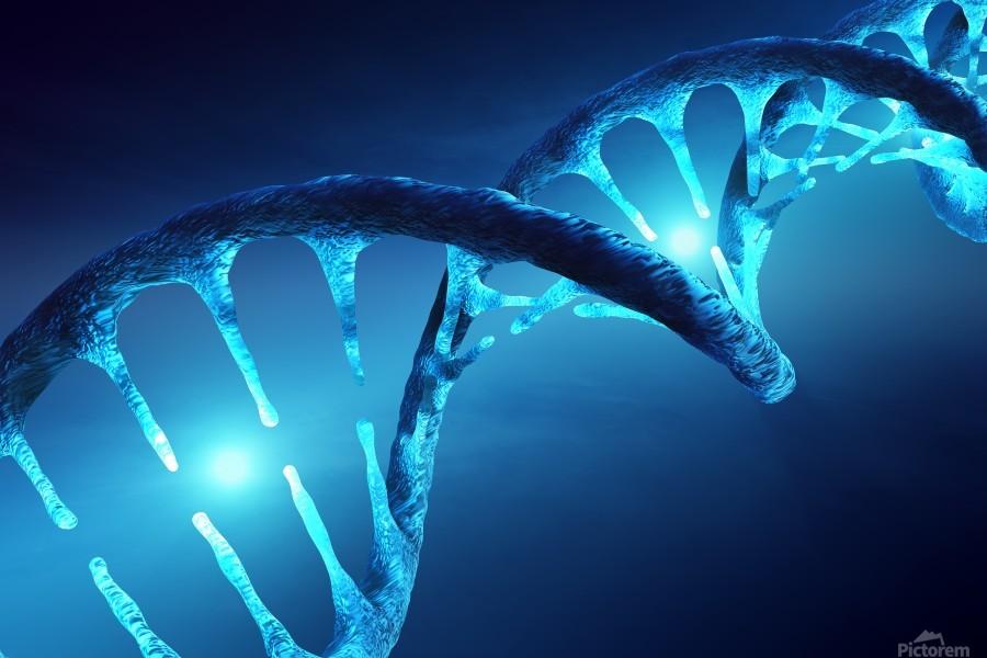 DNA structure illuminated  Print