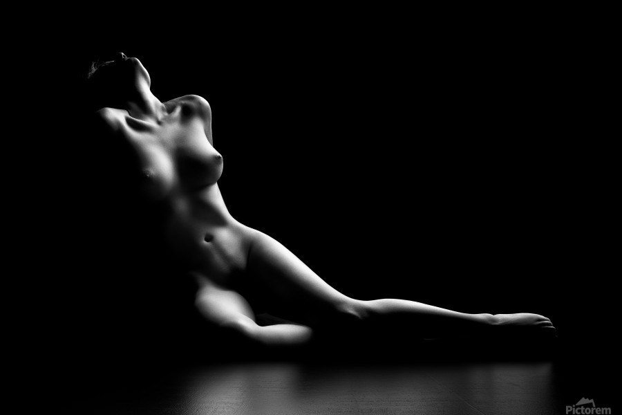 Nude woman bodyscape  Print