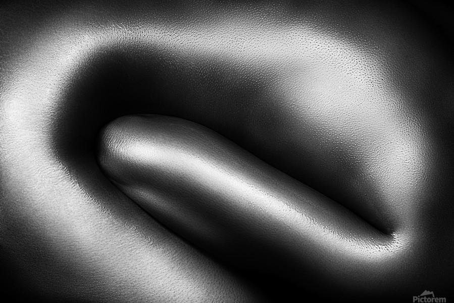 Female nude silver oil close-up 3  Print