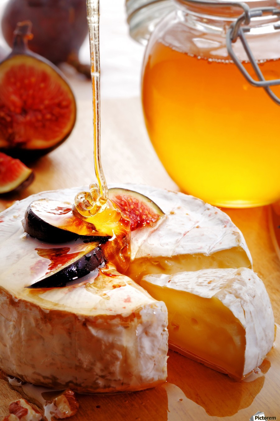 Brie Cheese with Figs and honey  Print