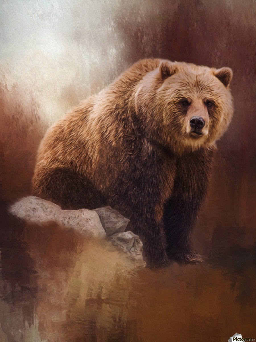 Great Strength - Grizzly Bear Art by Jordan Blackstone  Print