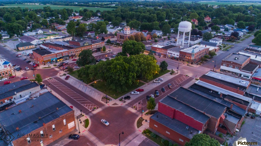 Rushville, IL Square  Print