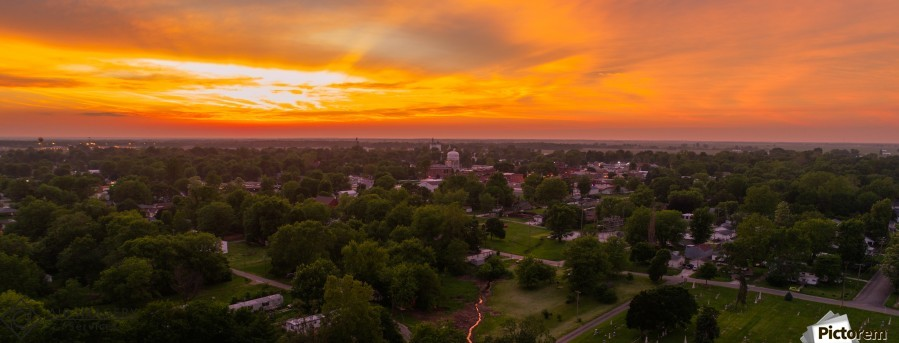 Rushville, IL Sunset  Print