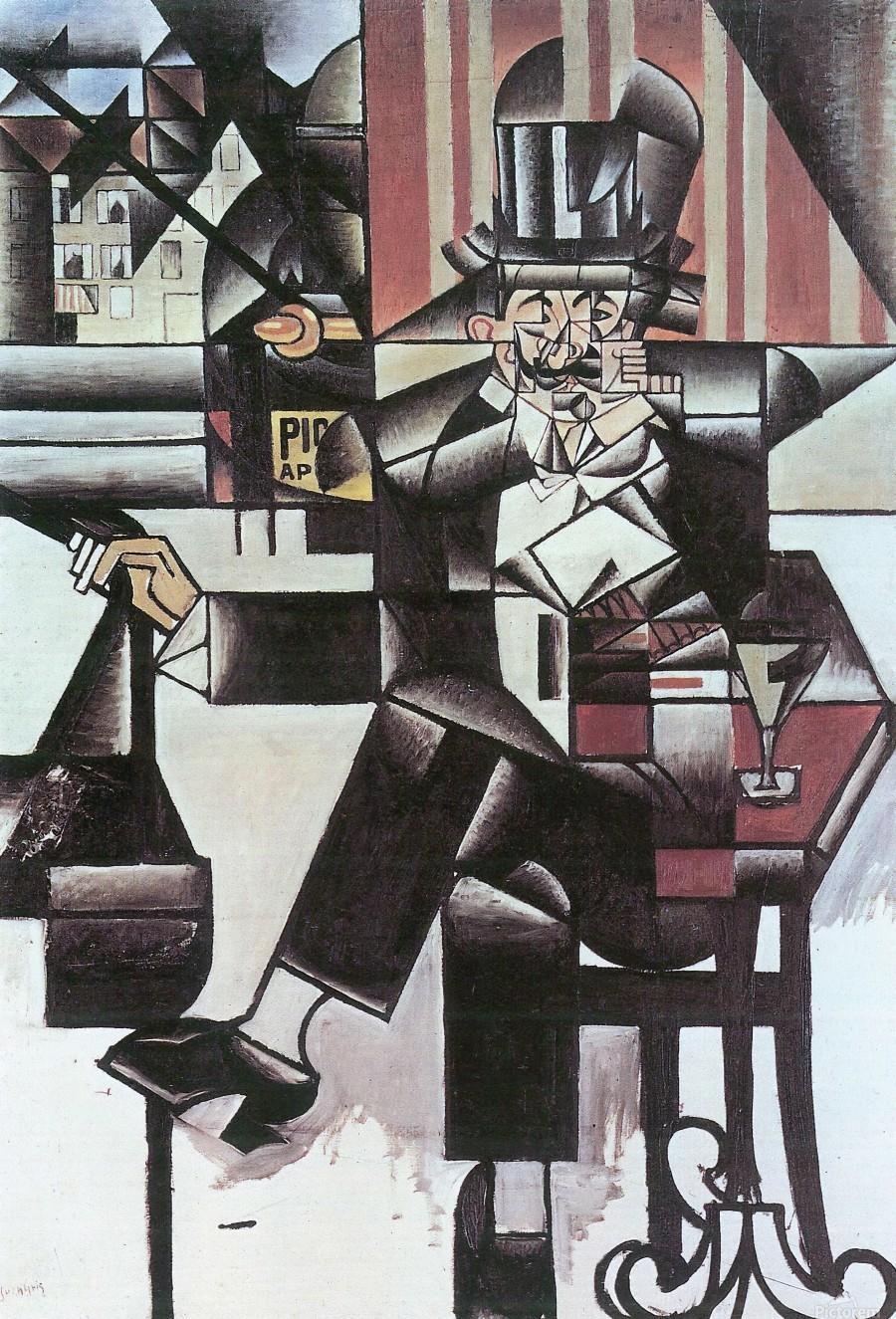 Man in Cafe -1- by Juan Gris  Print