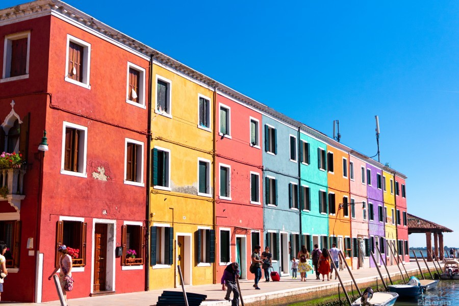 Colorful Venice Houses  Print