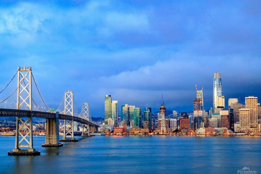 San Francisco on Blue  Print