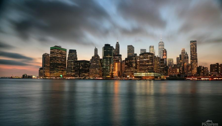 New York City Skyline at Dusk  Print