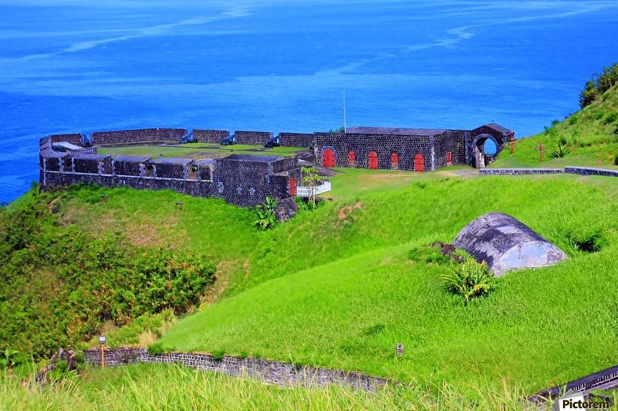 St Kitts Brimstone Hill Bastion  Print