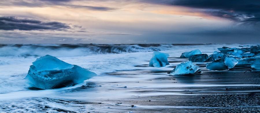 Ice Beach, Iceland  Print