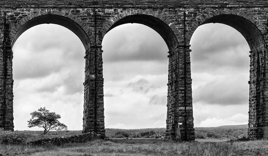 Settle Carlisle Viaduct Yorkshire England  Print