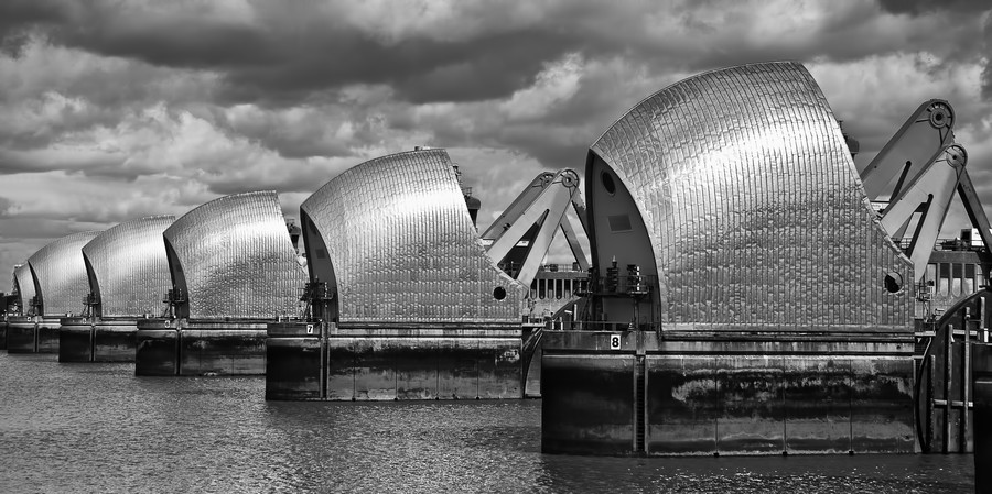 Thames Barrier, London, UK  Print