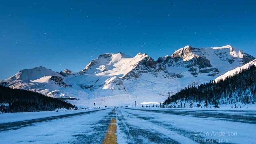 Columbia Ice Fields Canada.  Print
